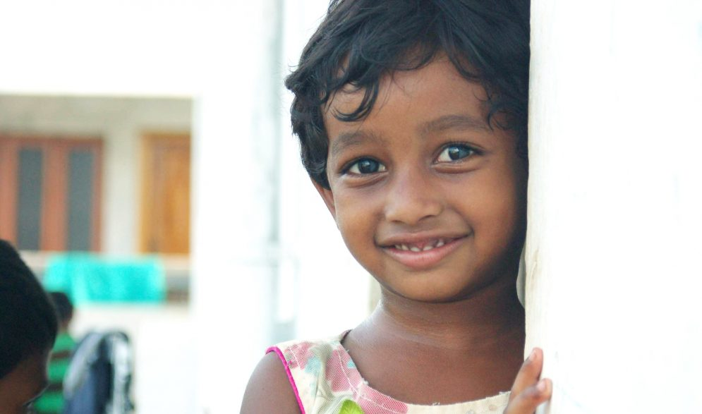 Girl at the Children of Faith Home in India