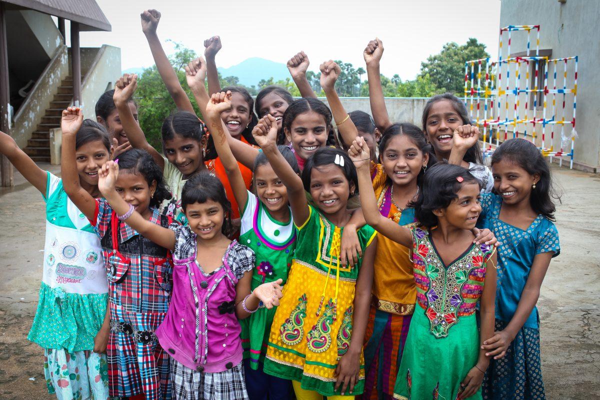 Girls form the Children of Faith home